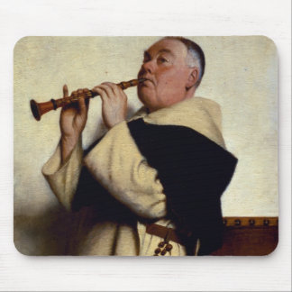 Monk Playing a Clarinet Mouse Pad