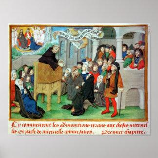 Monk Preaching on Imitation Poster