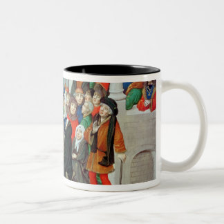 Monk Preaching on Imitation Two-Tone Coffee Mug