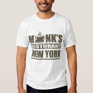 MONK;S RESTURANT NEW YORK TEE SHIRT