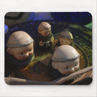 Monk Salt and Pepper Shaker Mouse Pad
