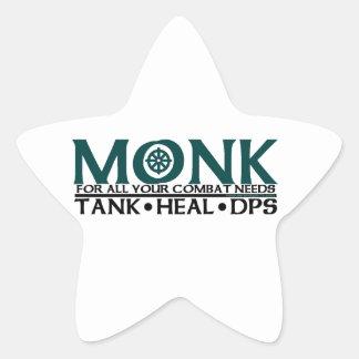 Monk Star Stickers