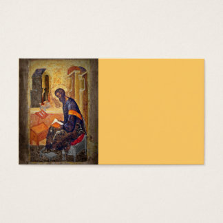 Monk Studying Scripture Business Card