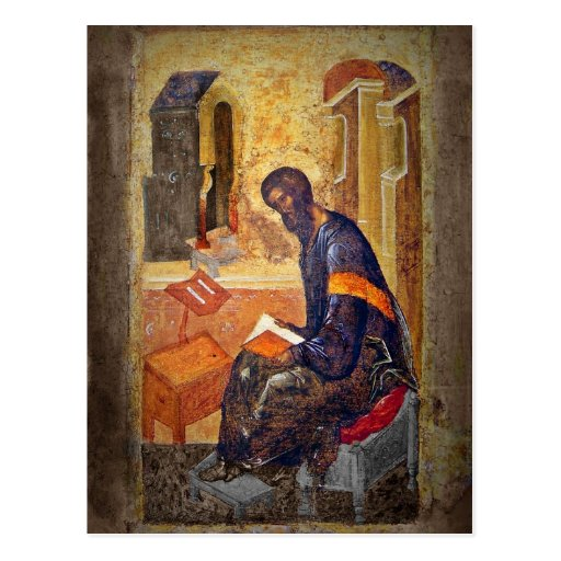 Monk Studying Scripture Post Cards