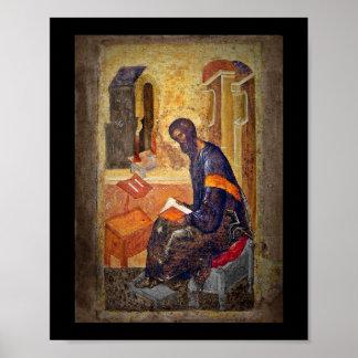 Monk Studying Scripture Print