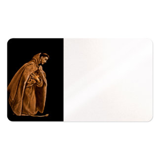 Monk Worshiping on His Knees Business Card Template