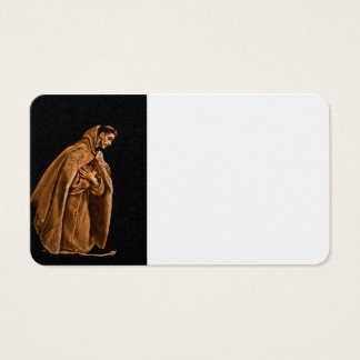 Monk Worshiping on His Knees Business Card
