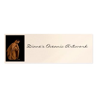 Monk Worshiping on His Knees Business Card Templates
