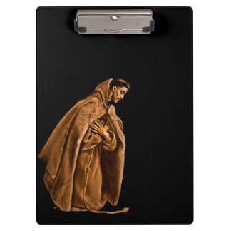 Monk Worshiping on His Knees Clipboard