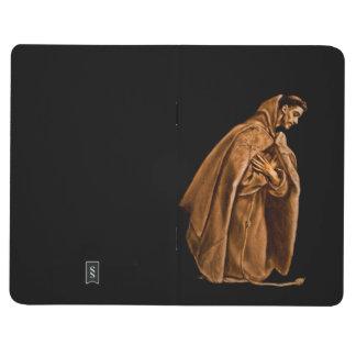 Monk Worshiping on His Knees Journal