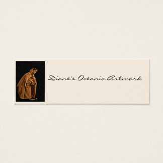 Monk Worshiping on His Knees Mini Business Card