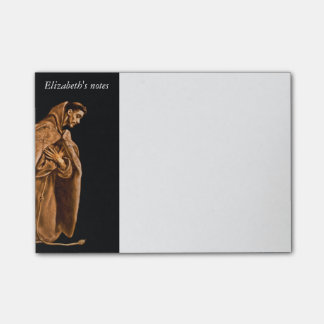Monk Worshiping on His Knees Post-it® Notes
