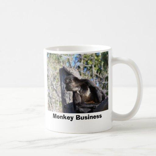 Monkey1, estupideces taza básica blanca