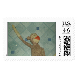 Monkey 001 postage stamps