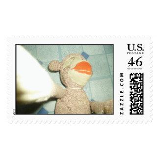 Monkey 002 postage stamp