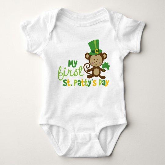 Monkey 1st St. Patrick's Day Baby Bodysuit