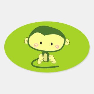 monkey-304258  monkey cartoon character cute ape i oval sticker