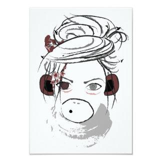 monkey. 3.5x5 paper invitation card