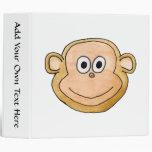 Monkey 3 Ring Binders
