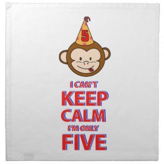 Monkey 5 year old designs napkin