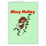 Monkey Ahoy Matey Tshirts and Gifts Greeting Card