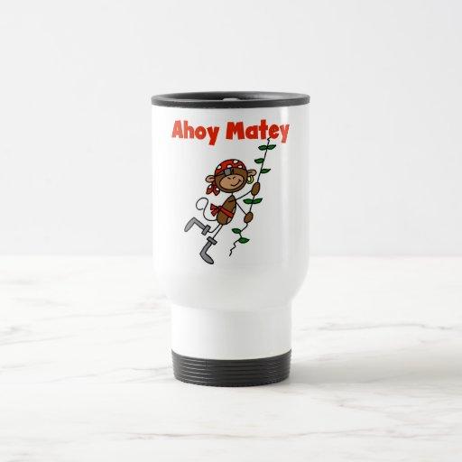 Monkey Ahoy Matey Tshirts and Gifts Mug