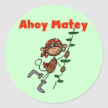 Monkey Ahoy Matey Tshirts and Gifts Stickers