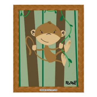 ¡Monkey alrededor! Póster