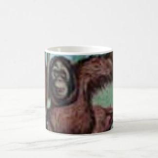 Monkey alrededor taza básica blanca