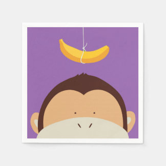 Monkey and Banana Paper Napkin