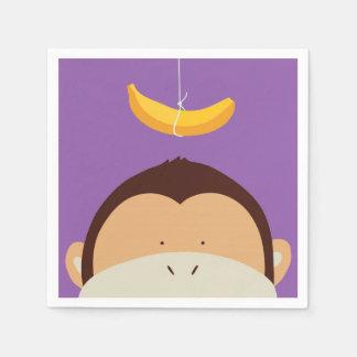 Monkey and Banana Paper Napkin