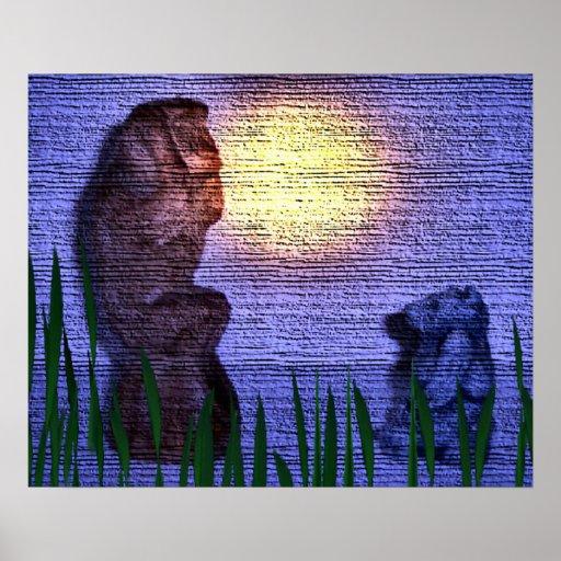 Monkey and Bear Print