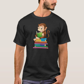 Monkey and books T-Shirt