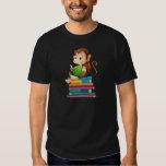 Monkey and books tshirt