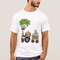 Monkey and Hippo Train Tshirts and Gifts