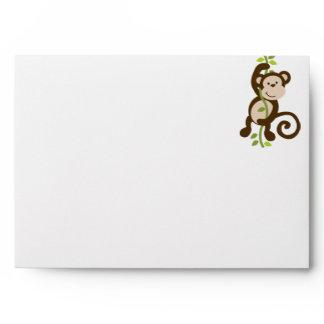 Monkey and Polka Dots Envelope