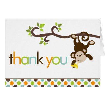 heartlocked Monkey and Polka Dots Thank You Notes