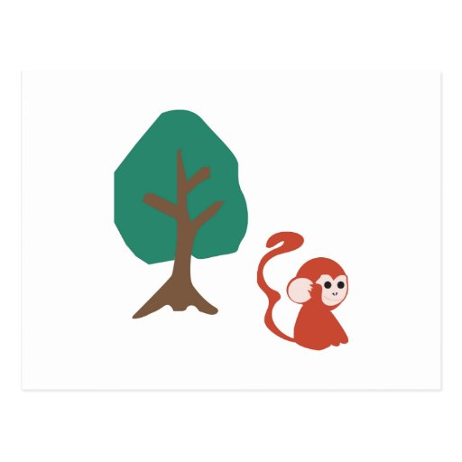Monkey And Tree Post Cards