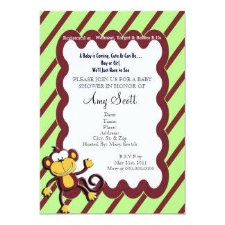 Monkey Around Baby Shower Invitation - Light Green