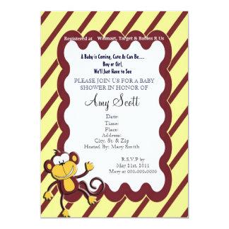 Monkey Around Baby Shower Invitation - Yellow