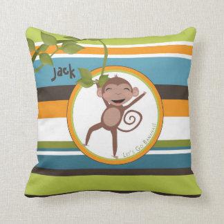 Monkey Around Square Personalized Pillow