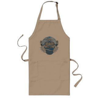 Monkey art long apron