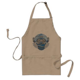 Monkey art adult apron