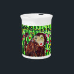 """Monkey art pitcher<br><div class=""""desc"""">monkey art</div>"""