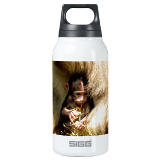 monkey baby love of mother insulated water bottle