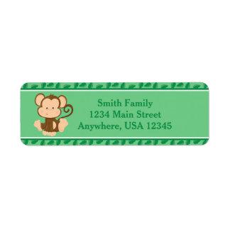Monkey | Baby Safari Animals | Personalized Label