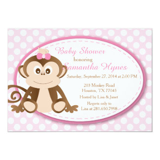 Monkey Baby Shower/Birthday Invitation Personalized Invite