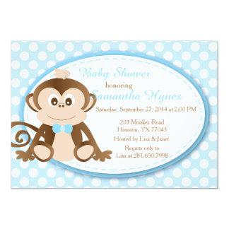 Monkey Baby Shower/Birthday Invitation-Boys Card