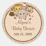 MONKEY Baby Shower blank label/seal Nali NJM #07 Classic Round Sticker
