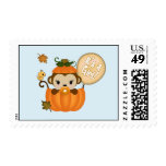 MONKEY Baby Shower Fall Pumpkin postage GIRL